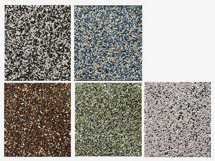 Mozaiková omítka - zateplení soklu domu